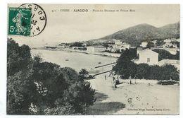 CPA - CORSE, AJACCIO, PLACE DU DIAMANT ET POINTE MIOT - 20 2A - Circulé 1911 - Collection Simon Damiani à Bastia - Ajaccio