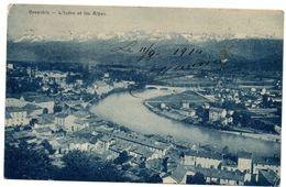 Tarjeta Postal De Grenoble L'isere Et Les Alpes Circulada 1914 - Grenoble