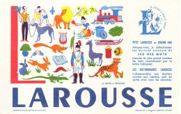 Buvard  LAROUSSE Lettre L - Stationeries (flat Articles)