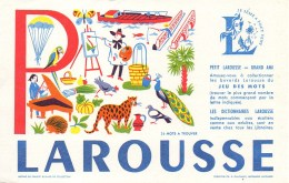 Buvard  LAROUSSE Lettre P - Stationeries (flat Articles)