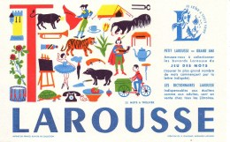 Buvard  LAROUSSE Lettre T - Stationeries (flat Articles)