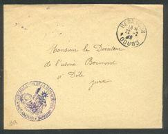 Cachet Contrôle De La Main-d'oeuvre Militaire Besançon - 22 02 1918 - Marcophilie (Lettres)