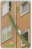 NL.- POES, Serie Mens En Huisdier. Aanhankelijk. Trouw. Zelfstandig. 10 Gulden. Trap. Ladder. A819 - Katten