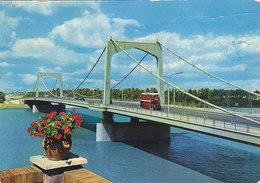 Iraq Baghdad - 14th July Suspension Bridge - Doubledeck Bus Nice Stamps - Iraq