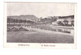 Italie Lazio Latina Terracina Il Porto Canale Port Du Canal Cpa Timbre + Cachet 1908 - Latina