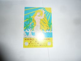 CPM NU Sirène Hyeres Les Palmiers 3ème Salon CP Et Vieux Papiers 1987 Dessin P Hamm - Postkaarten