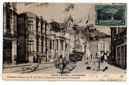 Tarjeta Postal De Chile , Calle Condell, Valparaiso Circulada De 1911. - Chile