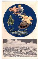 Carte Postale Ancienne Publicita  Cappelli Di Lana Cambiaghi Monza Colla Fabrica - Advertising