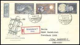 3541/ Espace (space Raumfahrt) Lettre (cover Briefe) 6/3/1961 Tchécoslovaquie (Czechoslovakia - Lettres & Documents