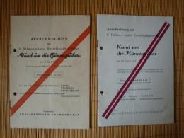 """2 Hefte Von 1958 + 1961, Ausschreibung Zur 6. Bzw. 9. Delmenhorster Zuverlässigkeitsfahrt """"Rund Um Die Hünengräber"""" ADAC - KFZ"""