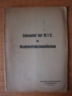 Lehrmittel Des B.f.L. Im Reichsluftfahrtministerium, Monatliche Zwischenlehrarbeiten Für Metallflugzeugbauer 1942 !! - Altri