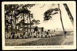 Cpa 33 Bassin D'Arcachon Le Moulleau  Préventorium  Armaingaud Siestes Et Jeux Cabines De Bain De Mer  MARS18-05 - Arcachon