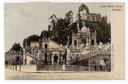 Tarjeta Postal De Cerro Santa Lucia, Santiago Circulada 1911 - Chile