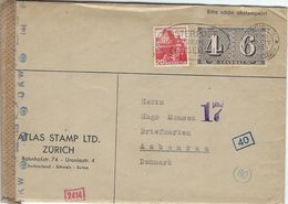 Switzerland - Cover Sent To Denmark 1943     H-1311 - Switzerland