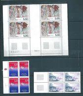 Andorre Francais Timbres De 1988/89 N°375 A 377 Neufs ** En Bloc De 4, - Andorre Français