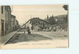 BEAUJEU - Entrée Du Faubourg Saint Martin Animée - Dos Simple - TBE - 2 Scans - Beaujeu