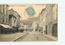 BEAUJEU - Place Clémentine Animée - 2 Scans - Beaujeu
