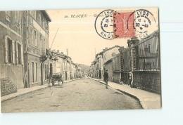 BEAUJEU -  Grande Rue Animée - 2 Scans - Beaujeu