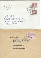 Greenland - 2 Covers Sent To Denmark. H-1312 - Greenland