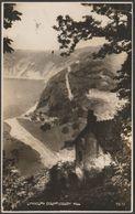 Countisbury Hill, Lynmouth, Devon, 1935 - Photochrom RP Postcard - Lynmouth & Lynton