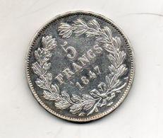 5 Francs Louis Philippe 1847A - J. 5 Francs