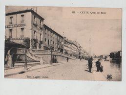 Cette Quai De Bosc Grand Galion Hôtel Avinens Bourse Téléphone Lafont - Sete (Cette)