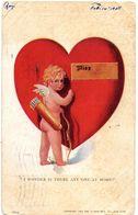 Tarjeta Postal Miss Love  Circulada De 1908 - NY - New York