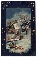 Tarjeta Postal Navidad Circulada Brooklyn. - NY - New York