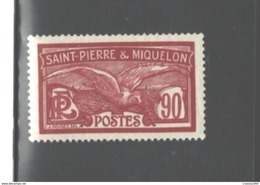 S. PIERRE & MIQUELON 1909 - 1930 #103 MNH, WITH SHEET MARGIN, $35.00 - St.Pierre & Miquelon