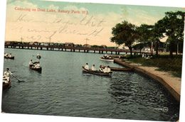 Tarjeta Postal Ausbury Park Circulada 1910 - Estados Unidos