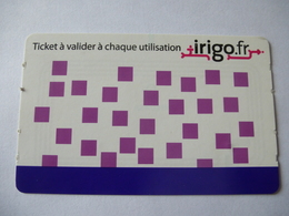 ANGERS : TRAMWAY IRIGO - 1 Ticket - Tranvías