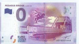2016  BILLET TOURISTIQUE 0 Euros   Pegasus Gridge      Dpt 14   Numero Aleatoire   Port 1.20   Epuise - Essais Privés / Non-officiels
