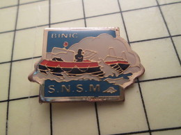 Pin911d Pin's Pins / Beau Et Rare : BATEAUX / SNSM SAUVETAGE EN MER BINIC Je Préfère Bikinic .... - Bateaux