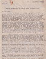 LOT #56 B.A. E.M.2  FFI JURA 1944 RESISTANCE LIBERATION COMPTE RENDU RAPPORT ATTAQUE POSTE DOUANE CERNOIS DOUBS - 1939-45