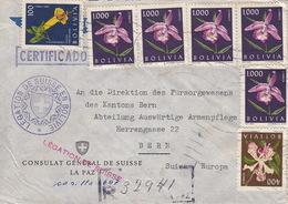 Deux Lettres. Délégation Suisse En Bolivie, Consulat Général De Suisse La Paz 1950 - Bolivie