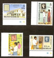 Montserrat 1990 Yvertnr. 735-738 *** MNH Cote 10 Euro Curiosité 1,15 Dollar No Perforation Pas De Perforation à Gauche - Montserrat