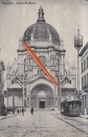 BRUXELLES - Eglise Sainte Marie - Avec Le Tram N°635 Sur La Droite De La Carte - Transport Urbain En Surface