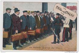 """Artillerie - Cpa / L'Arrivée Des """"Bleus"""". - Regimente"""
