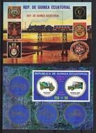 Rep. De Guinea Ecuatorial, Train, Oldtimer, Used - Transportmiddelen