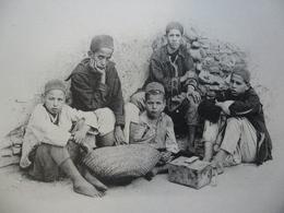 PHOTO ALGERIE Vers 1905 ALGER Yaouleds Jeunes Cireurs De Chaussures - Gervais Courtellemont Et Cie @ 15,8 Cm X 24 Cm - Africa