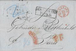 Warschau - LAC 25/9/1862  P.D. En Rouge  Aus Russland Franco - Ent Valenciennes 3 Prusse Varsovie >>>>Rothschild  Paris - ....-1919 Provisional Government