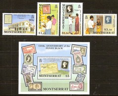 Montserrat 1990 Yvertn° 735-738 Et Bloc 54 *** MNH Cote 22 Euro - Montserrat