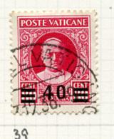 1934 - VATICANO - VATIKAN - Unif.  35 - USED - (VAT.2646 - 12..) - Vatikan