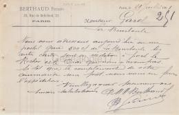 75 18 809 PARIS SEINE 1901 Maison BERTHAUD FRERES Rue De Bellefond A Garel - France