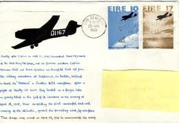 IRL+ Irland 1978 Mi 374-75 Transatlantikflug (UNIKAT / ÙNICO / PIÉCE UNIQUE) - Covers & Documents