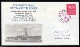 "US Navy, USS""SIBONEY"" (CVE-112)  1950,Original Photo-Cachet ,LOW PRICE !! Look Scan, RARE !! 21.3-11 - Bateaux"