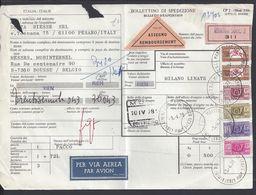 ITALIE - 1978 - Bulletin D'expédition Contre Remboursement, Par Avion, De Rimini Pour Boussu (BEL) - - 1946-.. République