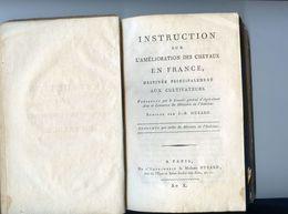 Instruction Sur L'amélioration Des Chevaux En France Par J B Huzard - Imprimerie Huzard Paris - An X - Livres, BD, Revues