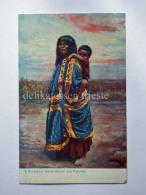 USA ARIZONA Native Arizonians Havasupai Indian Squaw Ans Papoose Old Postcard - Stati Uniti