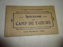 CARNET COMPLET DE 12 CARTES DU CAMP DE TAHURE .....SOUAIN..CIMETIERE MILITAIRE - Cartes Postales